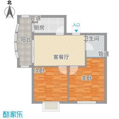 半里花庭88.82㎡半里花庭户型图B户型2室1厅1卫1厨户型2室1厅1卫1厨