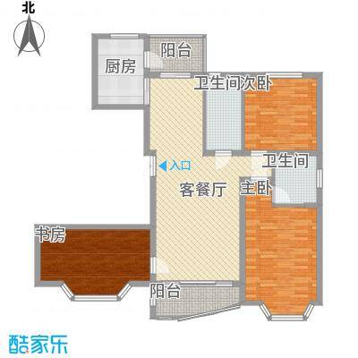 上实盛世江南152.99㎡上实盛世江南户型图D2户型3室2厅2卫1厨户型3室2厅2卫1厨