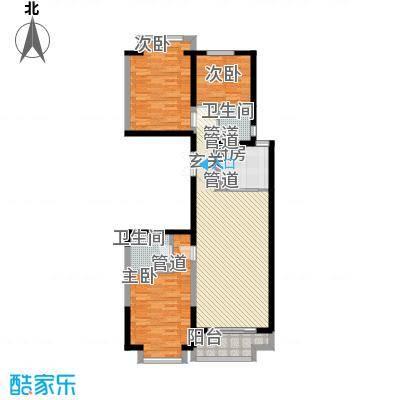 新天地鹭港129.05㎡新天地鹭港户型图2001a1-13室2厅2卫1厨户型3室2厅2卫1厨