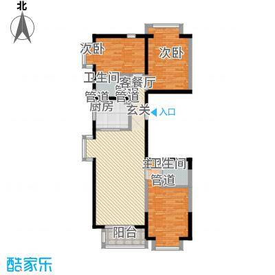 新天地鹭港136.10㎡新天地鹭港户型图2005b2-13室2厅2卫1厨户型3室2厅2卫1厨