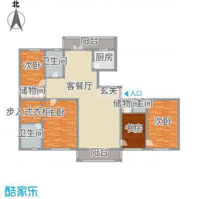 新新怡园二期162.35㎡新新怡园二期户型图36栋C户型4室2厅3卫1厨户型4室2厅3卫1厨