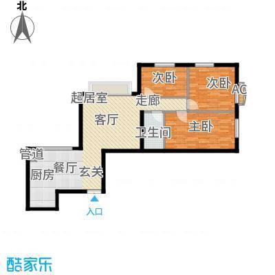 海富山水文园88.74㎡海富山水文园户型图D户型3室1厅1卫1厨户型3室1厅1卫1厨