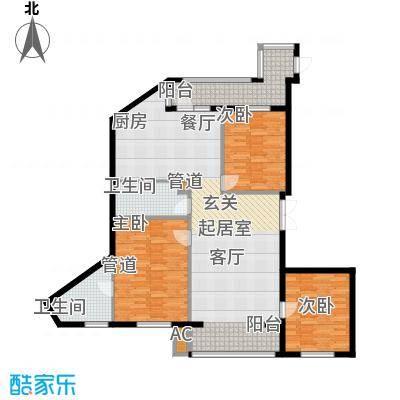 悦山国际101.59㎡悦山国际户型图C5户型3室2厅2卫1厨户型3室2厅2卫1厨
