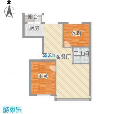 龙宇世纪嘉园户型图户型E 2室1厅1卫1厨