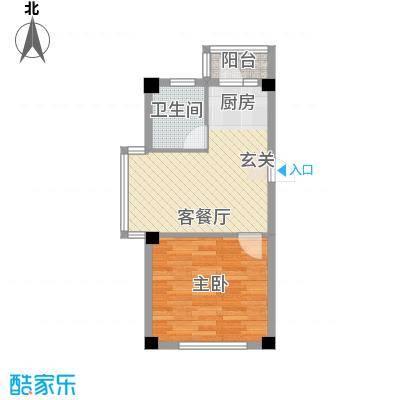 龙宇世纪嘉园户型图户型A 1室1厅1卫1厨
