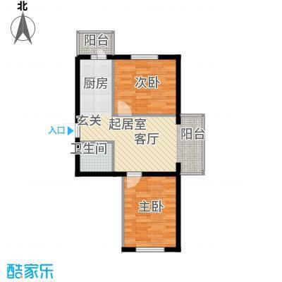 滨江凤凰城55.27㎡1910115850户型2室1厅1卫1厨