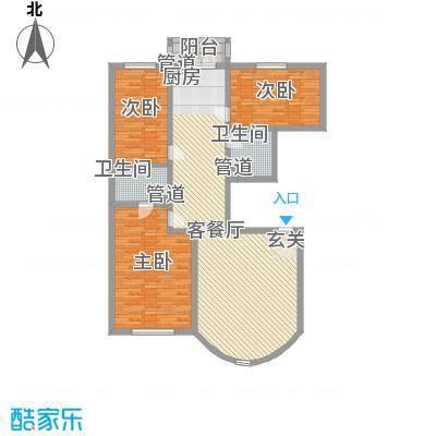 华龙金城155.16㎡华龙金城户型图3室2厅2卫1厨户型10室