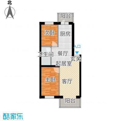 滨江凤凰城65.41㎡户型2室1厅1卫1厨