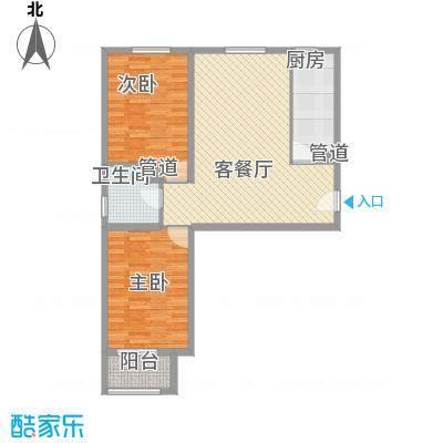 在水一方90.00㎡在水一方户型图C户型2室2厅1卫1厨户型2室2厅1卫1厨