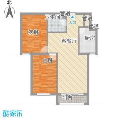 在水一方88.00㎡在水一方户型图B户型2室2厅1卫1厨户型2室2厅1卫1厨