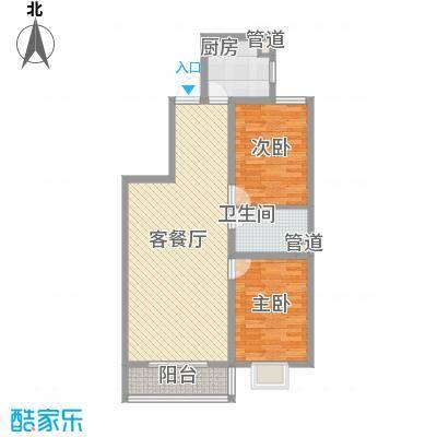 金泰花园101.71㎡金泰花园户型图D3户型2室2厅1卫1厨户型2室2厅1卫1厨