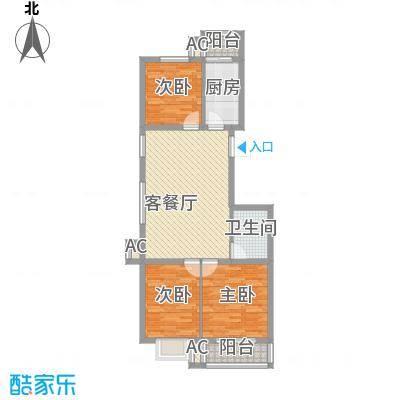 金泰花园102.00㎡金泰花园户型图B2a户型图3室2厅1卫1厨户型3室2厅1卫1厨