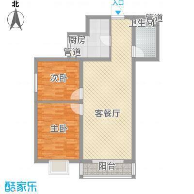 金泰花园93.44㎡金泰花园户型图D4户型2室2厅1卫1厨户型2室2厅1卫1厨