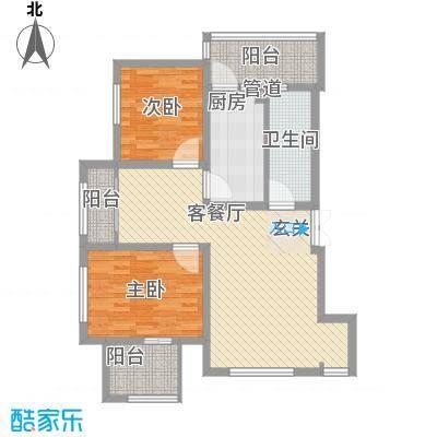 美丽洋房别墅64.44㎡美丽洋房别墅户型图户型12室2厅1卫1厨户型2室2厅1卫1厨