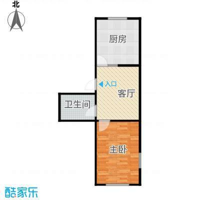 京华城一期43.82㎡1206688431550_001户型1室1厅1卫1厨