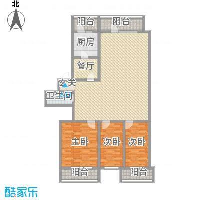 河柏花园126.88㎡河柏花园户型图3室2厅1卫1厨户型10室