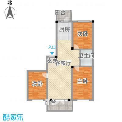 学府绿景苑学府绿景苑户型图3室2厅1卫1厨户型10室