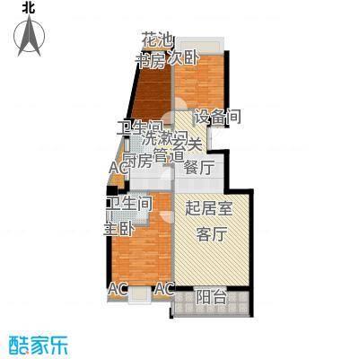 联邦广场128.86㎡联邦广场户型图3室2厅2卫1厨户型10室