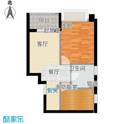 联邦广场51.47㎡联邦广场户型图1室1厅1卫1厨户型10室