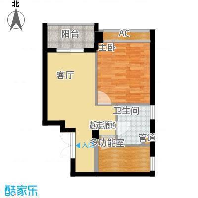 联邦广场50.90㎡联邦广场户型图1室1厅1卫1厨户型10室