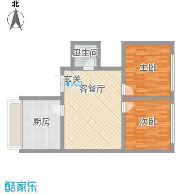 黄河绿园小区82.00㎡黄河绿园小区2室户型2室