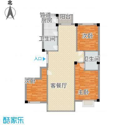 世纪花园108.38㎡哈尔滨世纪花园户型10室
