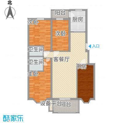 北岸明珠户型图户型A 4室2厅2卫1厨