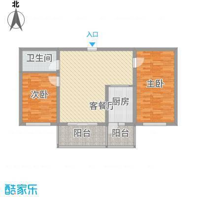 常盛源户型图户型 使用面积66.75㎡ 2室2厅1卫1厨