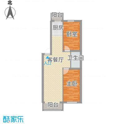 冬奥家园户型图D栋 二、三、四、五、单元户型 2室1厅1卫1厨