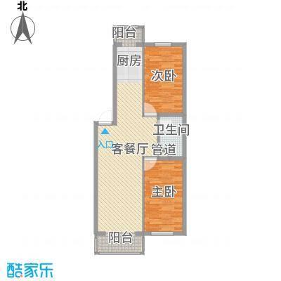 冬奥家园户型图C栋七单元户型  2室1厅1卫1厨