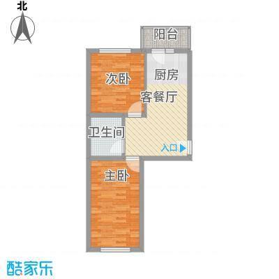 常盛源户型图户型 使用面积41.26㎡ 2室1厅1卫1厨