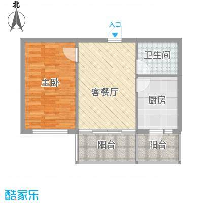 常盛源户型图户型 使用面积37.48㎡ 1室1厅1卫1厨