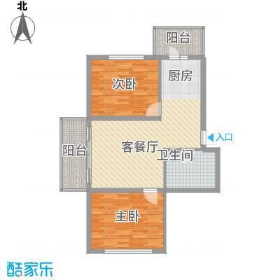 常盛源户型图户型 使用面积56.96㎡ 2室1厅1卫1厨