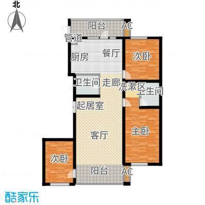 悦山国际106.07㎡悦山国际户型图F2户型3室2厅2卫1厨户型3室2厅2卫1厨