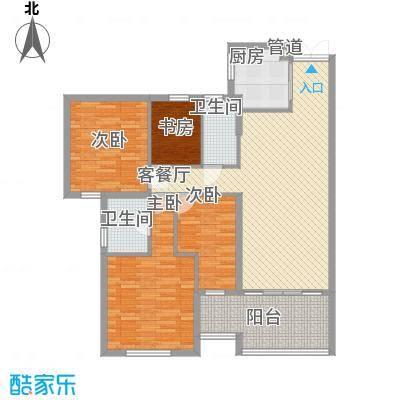 融汇江山141.67㎡融汇江山户型图D34室2厅2卫户型4室2厅2卫