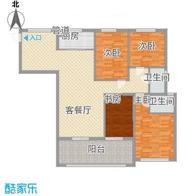 融汇江山160.94㎡融汇江山户型图D54室2厅2卫户型4室2厅2卫