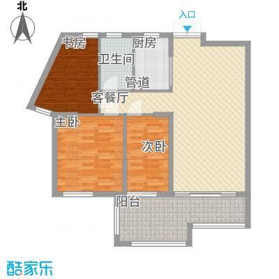 融汇江山117.29㎡融汇江山户型图颐景阁D7户型3室2厅1卫户型3室2厅1卫