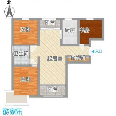 恒盛皇家花园85.99㎡恒盛皇家花园户型图H1户型2室2厅1卫1厨户型2室2厅1卫1厨