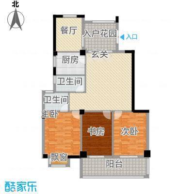 左海帝景127.00㎡左海帝景户型图3#楼2F-17F02、1F-17F04单元3室2厅2卫1厨户型3室2厅2卫1厨
