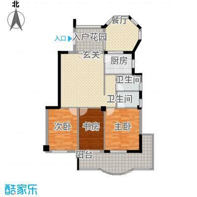 左海帝景133.00㎡左海帝景户型图3#楼1F-17F01、06单元3室2厅2卫1厨户型3室2厅2卫1厨