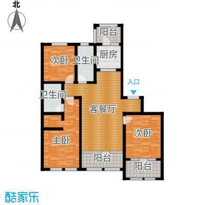 群力玫瑰湾97.12㎡D01-D02户型3室1厅2卫1厨