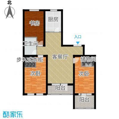 群力玫瑰湾91.72㎡D03-D06户型3室1厅1卫1厨