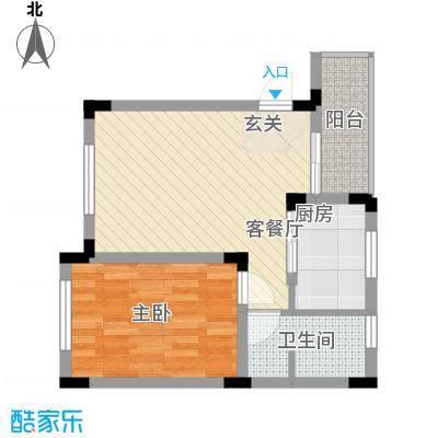 荷雨居1室1厅户型1室1厅1卫1厨
