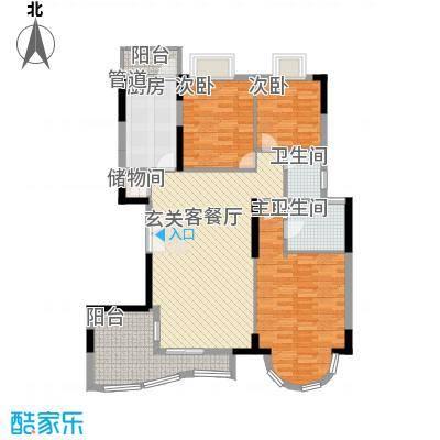 罗马家园拜庭二期3室2厅户型3室2厅2卫1厨