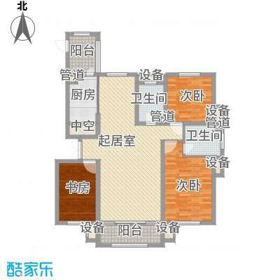 海富第五大道100.94㎡海富第五大道户型图二期高层户型3室2厅2卫1厨户型3室2厅2卫1厨