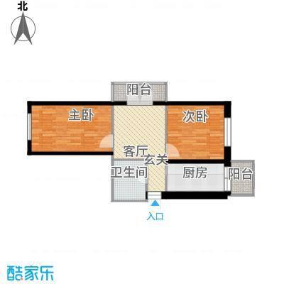 江畔方元82.30㎡江畔方元户型图多层2室1厅1卫1厨户型2室1厅1卫1厨