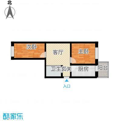 江畔方元66.00㎡江畔方元户型图2室1厅1卫1厨户型10室