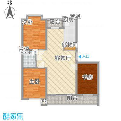 伸马梧桐湾伸马梧桐湾户型图三期高层户型使用面积88.61㎡3室1厅1卫1厨户型3室1厅1卫1厨