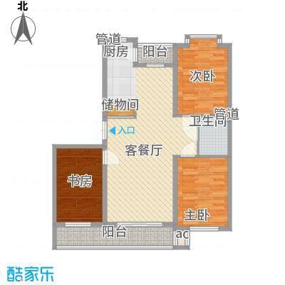 伸马梧桐湾伸马梧桐湾户型图三期高层户型使用面积90.71㎡3室1厅1卫1厨户型3室1厅1卫1厨