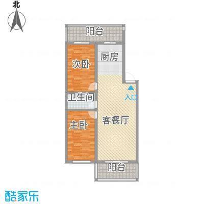 富江家园71.14㎡富江家园户型图2室1厅1卫1厨户型10室